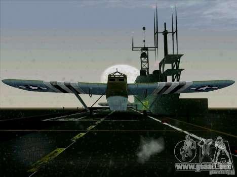 Aviones del juego tras enemigas las líneas 2 para GTA San Andreas vista posterior izquierda