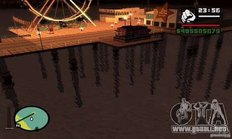 0,075 ENBSeries (agua) para GTA San Andreas sucesivamente de pantalla