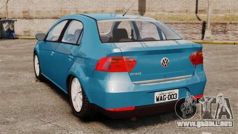 Volkswagen Voyage G6 2013 para GTA 4 Vista posterior izquierda