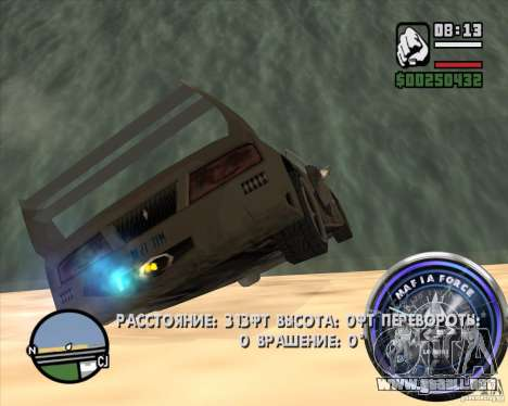 Velocímetro-2 para GTA San Andreas quinta pantalla