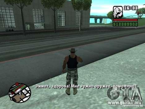 Gun Seller RUS para GTA San Andreas segunda pantalla
