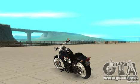 Harley Davidson FXSTBi Night Train para GTA San Andreas vista posterior izquierda