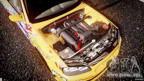 Nissan Skyline R34 GT-R Tezuka Goodyear D1 Drift para GTA 4 vista desde abajo