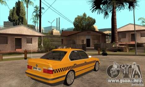 BMW E34 535i Taxi para la visión correcta GTA San Andreas
