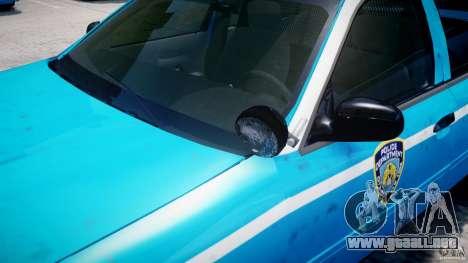 Ford Crown Victoria Classic Blue NYPD Scheme para GTA 4 ruedas