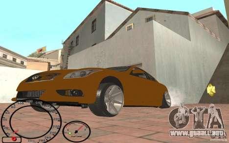 Infiniti G37 Vossen para GTA San Andreas left