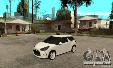 Citroen DS3 2010 para GTA San Andreas