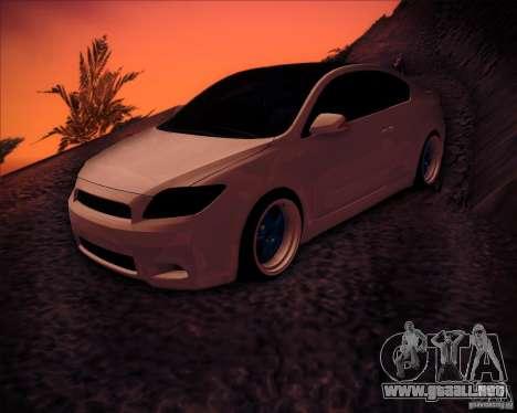 Scion tC Blue Meisters para vista inferior GTA San Andreas