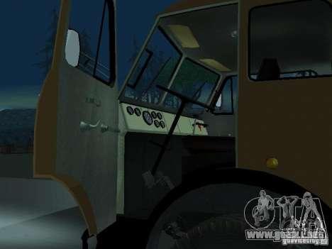 MAZ TK-7, 5-500A para la visión correcta GTA San Andreas