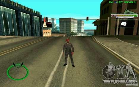 Mechanik HD Skin para GTA San Andreas sucesivamente de pantalla