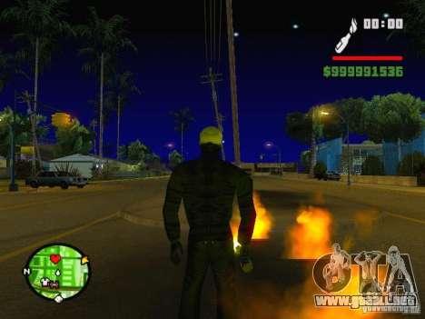 Ghost Ryder Skin para GTA San Andreas segunda pantalla