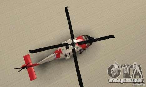 HH-60 Jayhawk USCG para la visión correcta GTA San Andreas