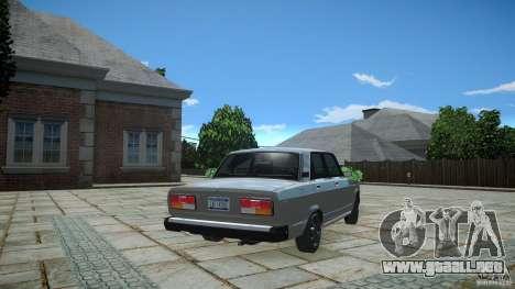 VAZ 2107 v1.0 para GTA 4 Vista posterior izquierda