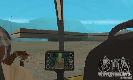Dragonfly para GTA San Andreas vista hacia atrás