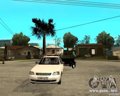 2170 LADA Priora luz tuning y remolque para GTA San Andreas vista hacia atrás