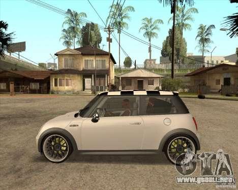 Mini Cooper para GTA San Andreas vista posterior izquierda
