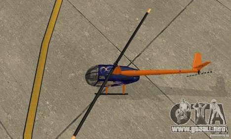 Robinson R44 Raven II NC 1.0 piel 3 para GTA San Andreas vista hacia atrás