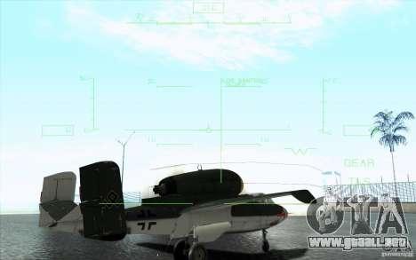 Henkel 162A Salamander para la vista superior GTA San Andreas