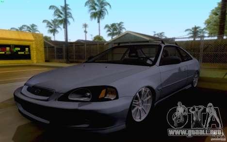 Honda Civic 1999 para GTA San Andreas left
