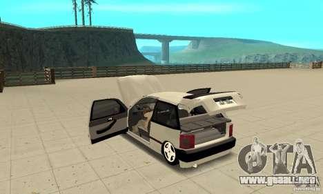 Fiat Tipo 2.0 16V 1995 para visión interna GTA San Andreas