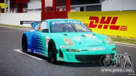 Porsche GT3 RSR 2008 para GTA 4 vista hacia atrás