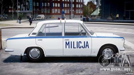 Fiat 125p Polski Milicja para GTA 4 vista interior
