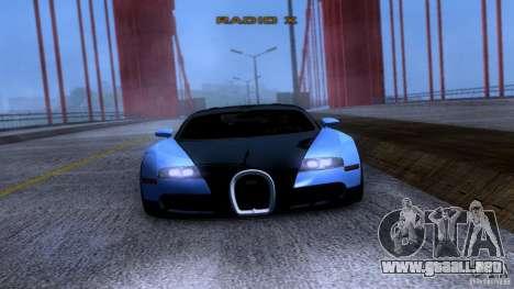Bugatti Veyron 16.4 para GTA San Andreas vista hacia atrás
