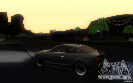 Audi S5 Black Edition para GTA San Andreas left