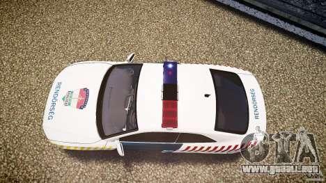 Audi S5 Hungarian Police Car white body para GTA 4 visión correcta