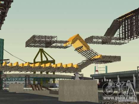 Huge MonsterTruck Track para GTA San Andreas sucesivamente de pantalla