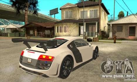Audi R8 LMS v1 para la visión correcta GTA San Andreas