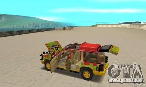 Ford Explorer (Jurassic Park) para la vista superior GTA San Andreas