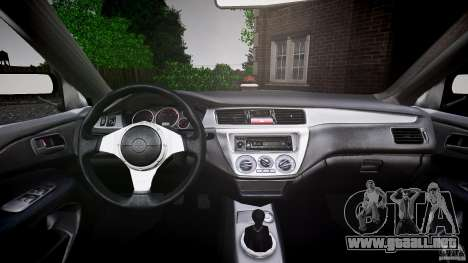 Mitsubishi Lancer Evolution VIII v1.0 para GTA 4 vista desde abajo