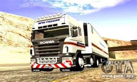 Scania R620 Emercom de Rusia para visión interna GTA San Andreas
