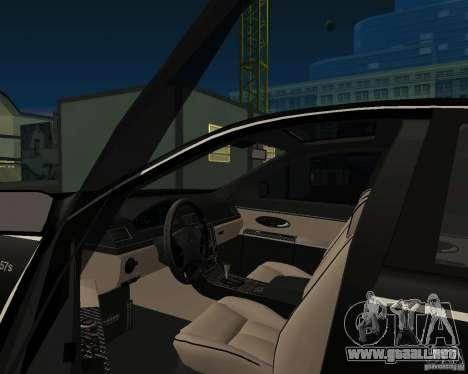Maybach 57S para GTA San Andreas vista posterior izquierda
