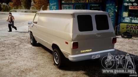 Chevrolet G20 Vans V1.1 para GTA 4 Vista posterior izquierda