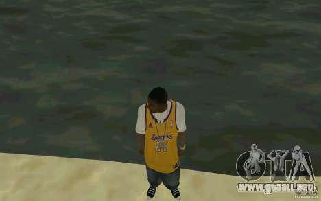 Afro-American HD skin para GTA San Andreas segunda pantalla