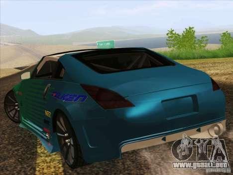 Nissan 350Z Falken Tire para GTA San Andreas left