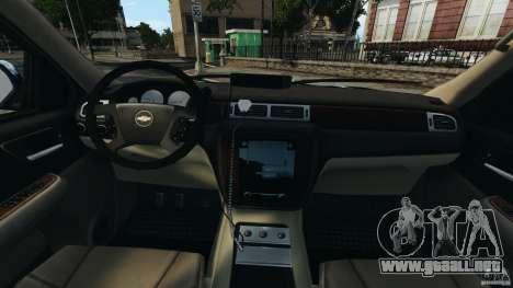 Chevrolet Tahoe LCPD SWAT para GTA 4 vista hacia atrás