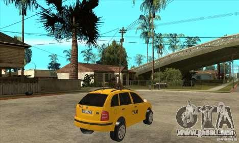 Skoda Fabia Combi Taxi para la visión correcta GTA San Andreas