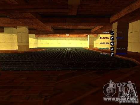 Nuevo garaje para policía para GTA San Andreas sucesivamente de pantalla