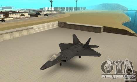 F-22 Black para GTA San Andreas