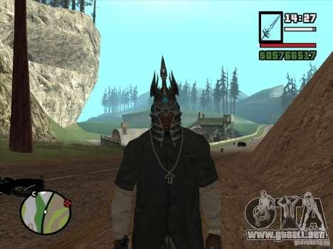 Casco Ner Zula para GTA San Andreas segunda pantalla