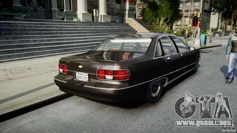 Chevrolet Caprice FBI v.1.0 [ELS] para GTA 4 Vista posterior izquierda
