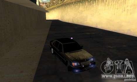 Mercedes-Benz W140 S600 Long Deputat Style para GTA San Andreas vista hacia atrás
