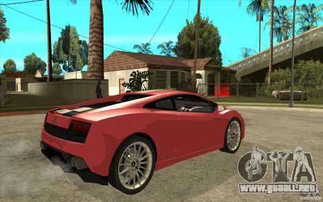 Lamborghini Gallardo LP550 Valentino Balboni para la visión correcta GTA San Andreas