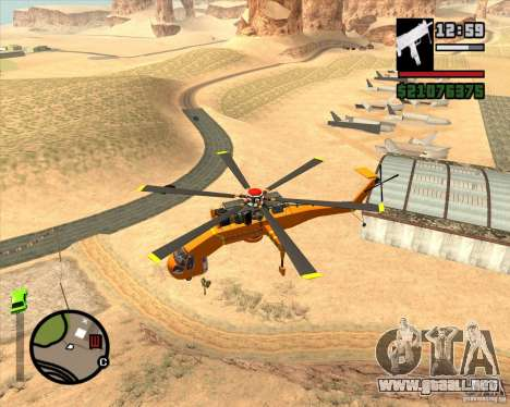 Skylift para GTA San Andreas left