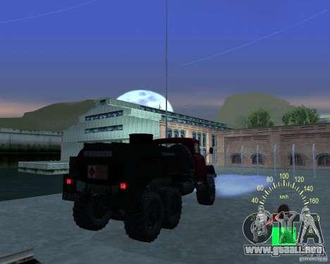 ZIL 131 petrolero para la visión correcta GTA San Andreas