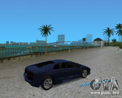 Lamborghini Murcielago LP640 para GTA Vice City left