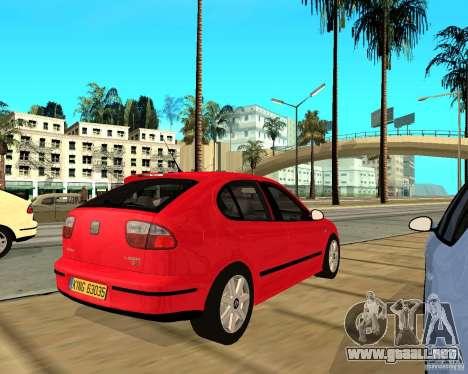Seat Leon 1.9 TDI para la visión correcta GTA San Andreas